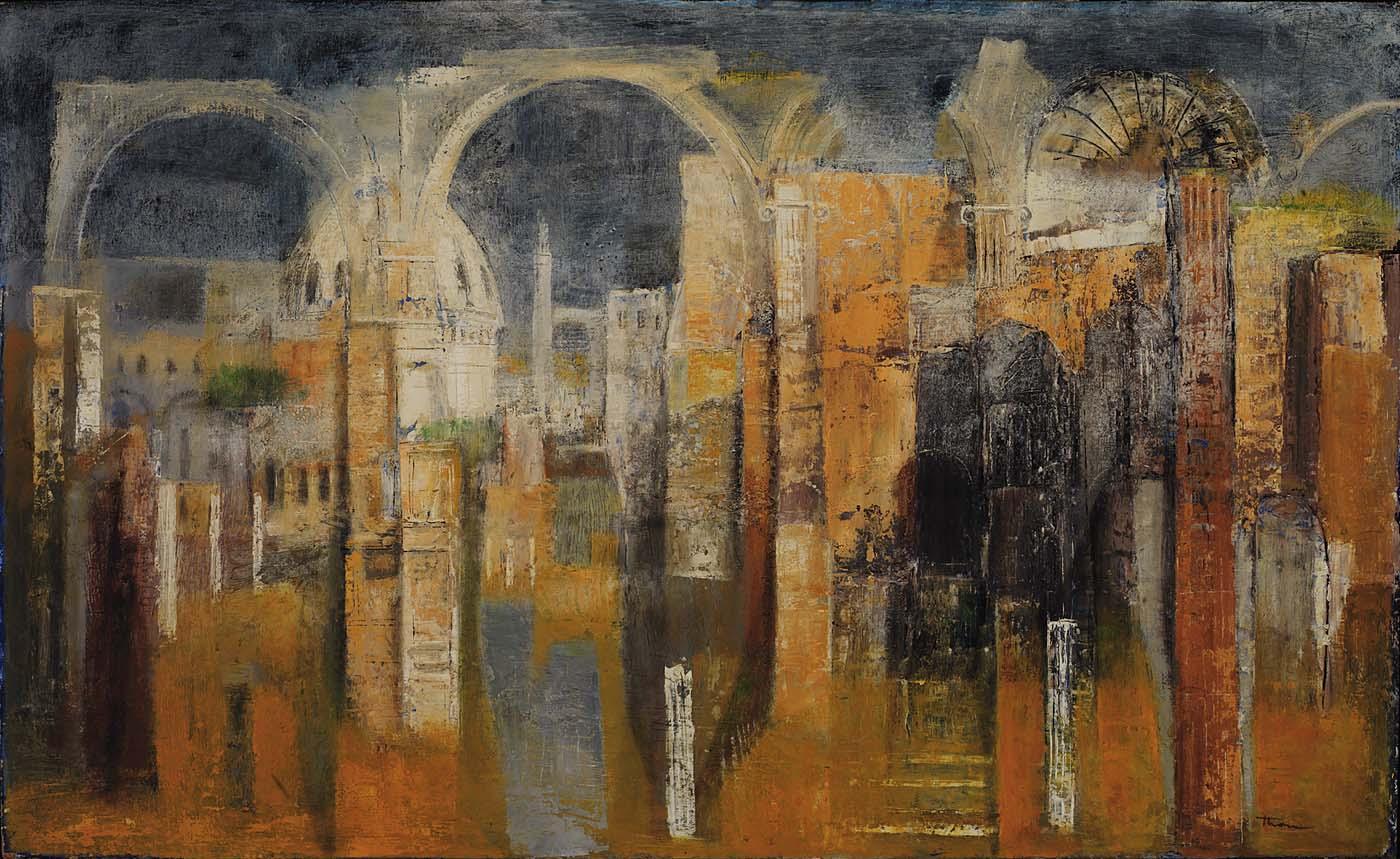 William Thon's Twilight in Rome