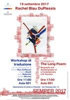Workshop di traduzione poetica con Rachel Blau DuPlessis e Renata Morresi